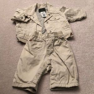 Baby gap cotton jacket and khakis 0-3 months
